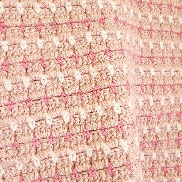 Pink Crochet Baby Blanket by The Loophole Fox