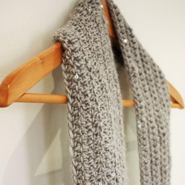 beginners crochet scarf pattern