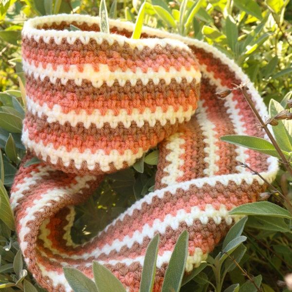 Moss Stitch Crochet Scarf