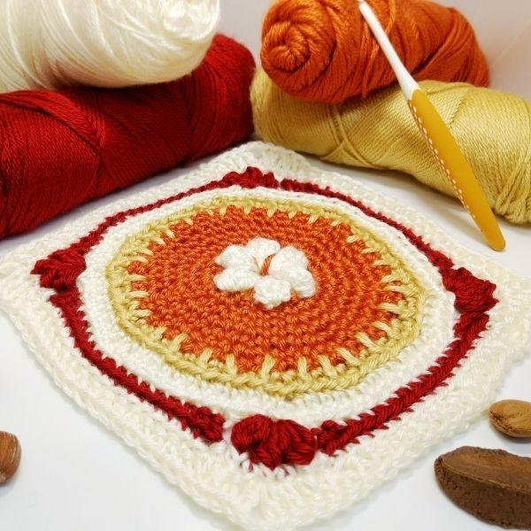 fall crochet granny square