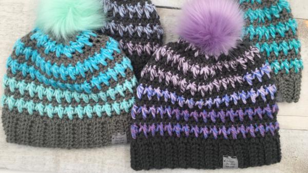 fun crochet beanie pattern