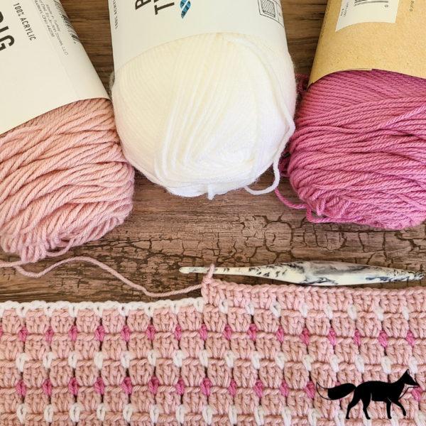 Block stitch crochet swatch