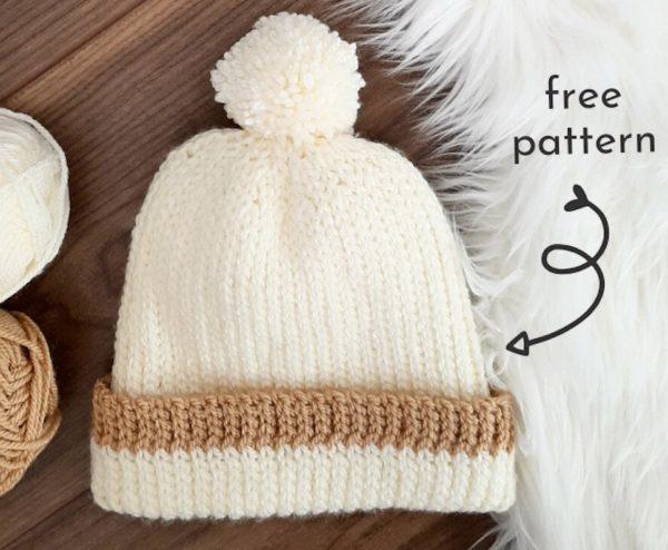 crochet beanie looks like knit