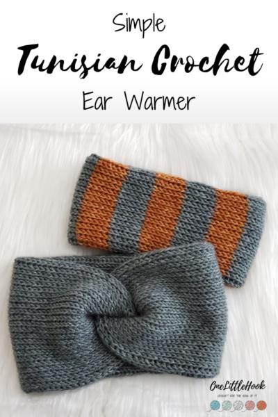 tunisian crochet ear warmers