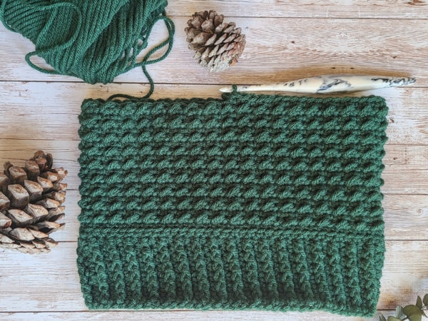 WIP of Crochet Arctic Beanie