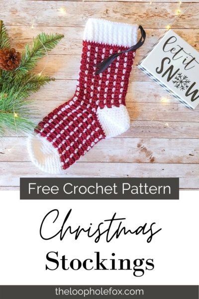 Crochet Christmas Stocking Pin