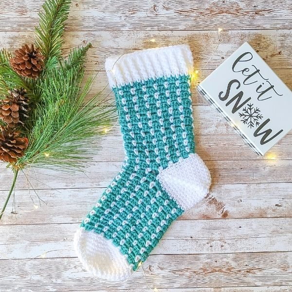 Christmas Stocking in Teal