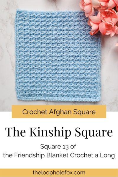 Crochet afghan square pinterest pin