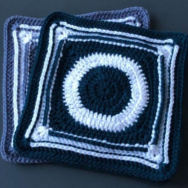 crochet quilt section