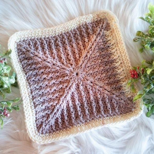 crochet afghan square