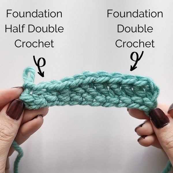 Foundation Half Double Crochet and Foundation Double Crochet worked on the same row.