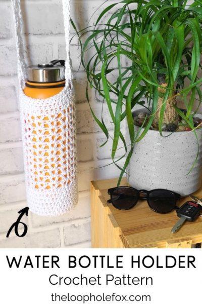 Crochet Water Bottle Bag Pinterest Pin