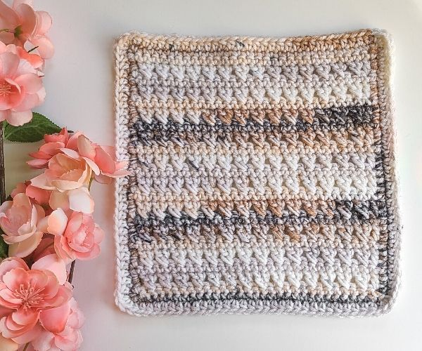 Crossed double crochet stitch afghan square