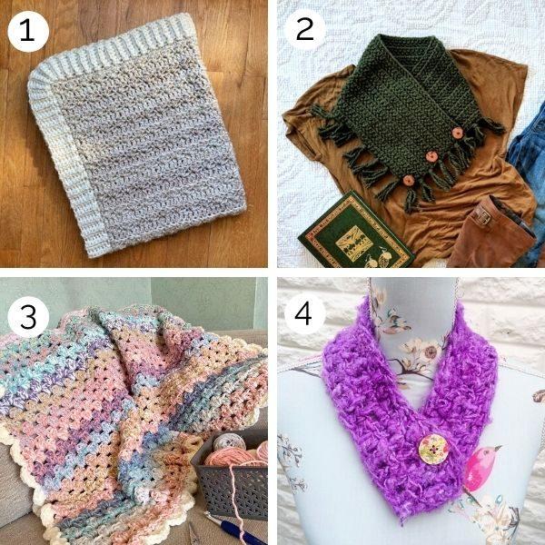 Crochet patterns using Bulky yarn weight