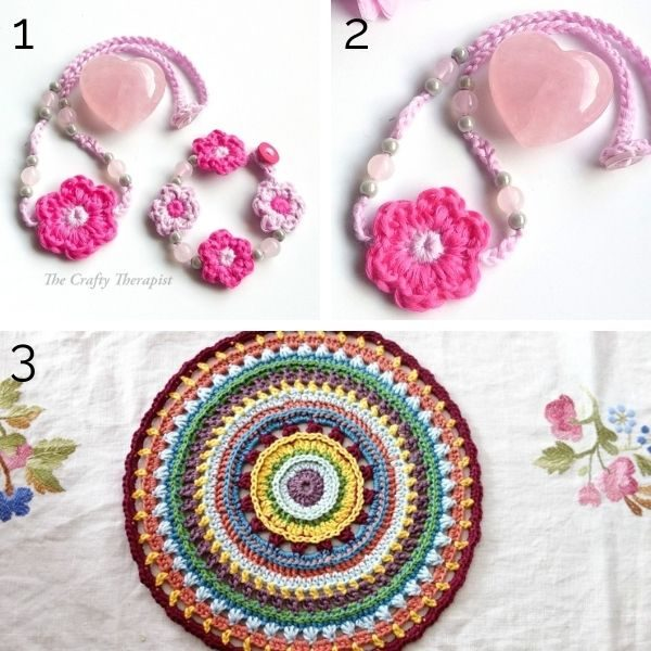 Crochet patterns using Fine yarn weight.