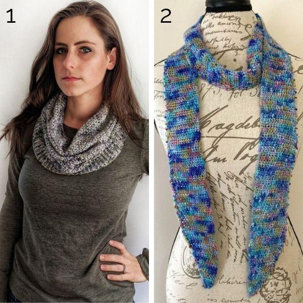 Crochet patterns using Super Fine yarn weight.