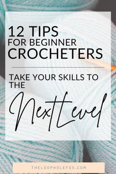 Crochet Tips for Beginners Pinterest Pin