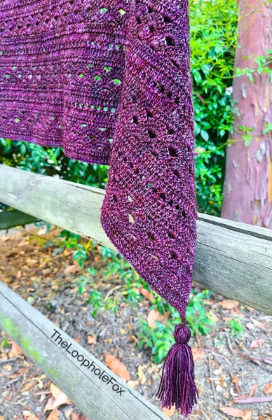 Additional close up picture of the shawl from another angle.